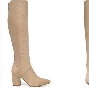 Sam Edelman Caprice Camel Suede Boots Size 9M